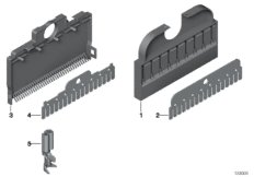 Comb type connector