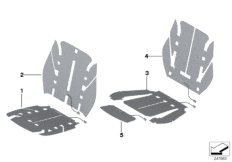 Electrical parts, seat heating, front