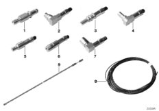 Repair parts, coaxial cable, contacts