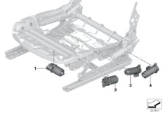 Seat, front, electrical system & drives