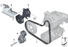 Belt Drive Water Pump//Alternator