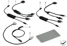Cable adapter, Apple iPod // iPhone