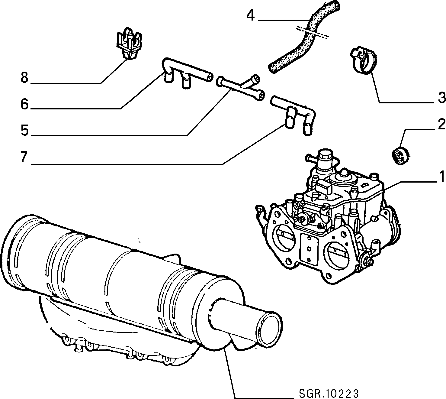 Catalogue Alfa Romeo Spider Europa Fl90 1990 1993 Fuel Injection Diagram M1